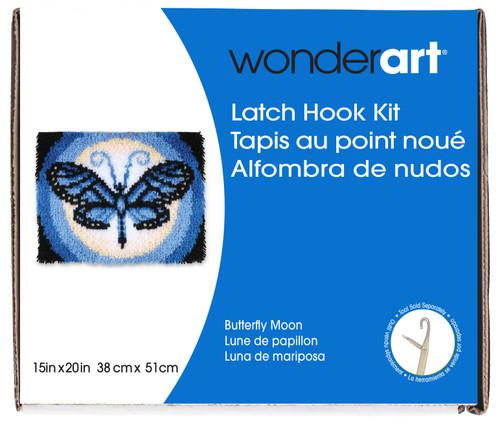 """Wonderart Latch Hook Kit 15""""X20""""-Butterfly Moon -426147 - 057355369382"""
