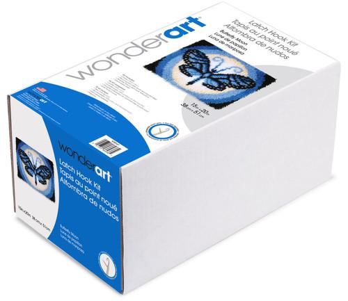 """Wonderart Latch Hook Kit 15""""X20""""-Butterfly Moon -426147"""
