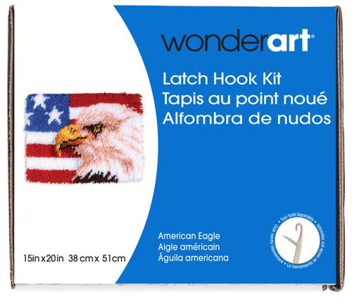 "Wonderart Latch Hook Kit 15""X20""-American Eagle -426148 - 057355369399"