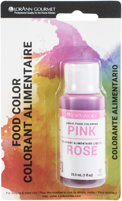 Liquid Food Color 1oz-Pink -LFC-1070 - 023535810753