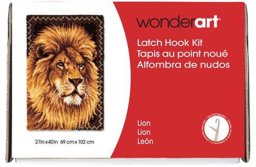 "Wonderart Latch Hook Kit 27""X40""-Lion -426131C - 057355369184"
