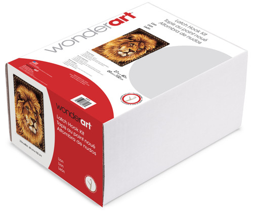 "Wonderart Latch Hook Kit 27""X40""-Lion -426131C"