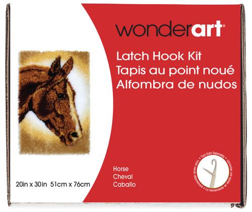 "Wonderart Classic Latch Hook Kit 20""X30""-Horse -426404C - 057355369290"
