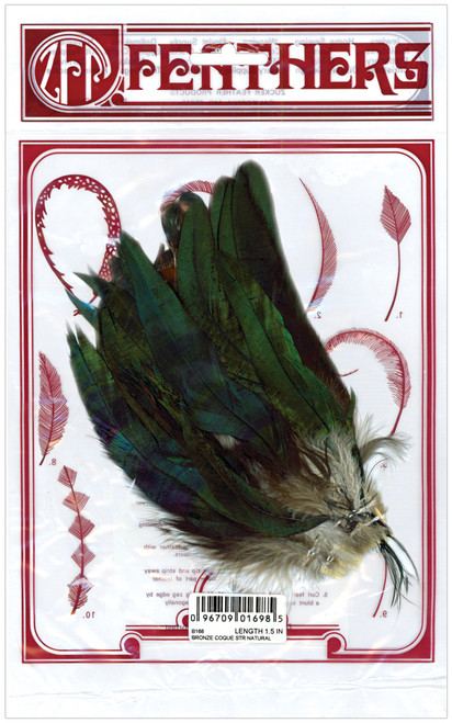 Strung Coque Feathers-Natural -B168 - 096709016985