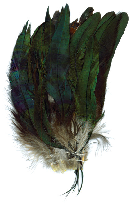 Strung Coque Feathers-Natural -B168