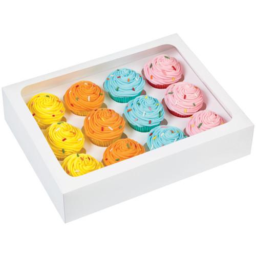 Mini Cupcake Boxes-12 Cavity White 3/Pkg -W1696 - 070896116963
