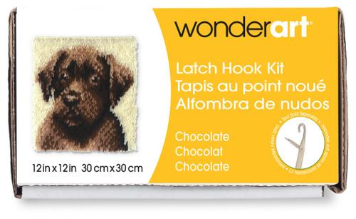 "Wonderart Latch Hook Kit 12""X12""-Chocolate Dog -426173C - 057355369900"