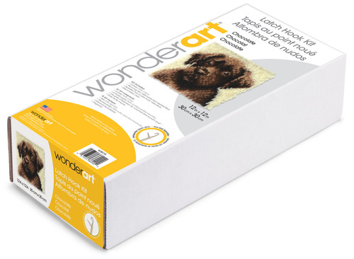 "Wonderart Latch Hook Kit 12""X12""-Chocolate Dog -426173C"