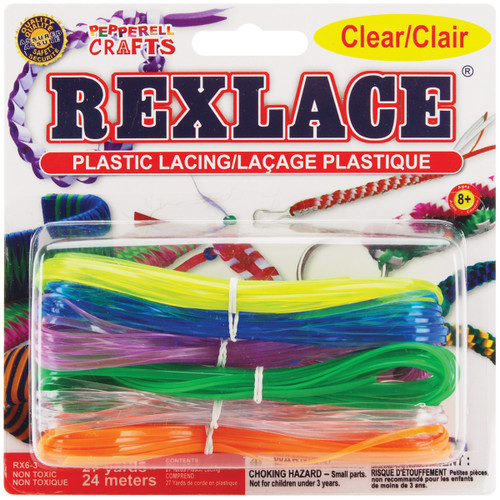 Rexlace Plastic Lacing 27yd-Clear -RX6-3 - 725879400163
