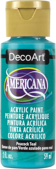 Americana Acrylic Paint 2oz-Peacock Teal -DA-326 - 766218083753