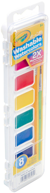 Crayola Washable Watercolors-8 Colors -53-0525