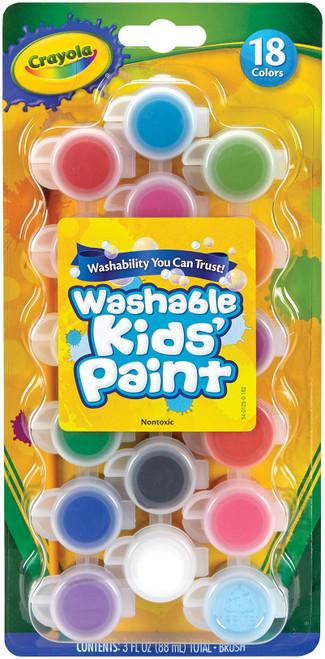 Crayola Washable Kid's Paint Pots-18 Colors -54-0125 - 071662003142