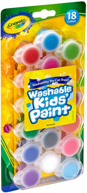 Crayola Washable Kid's Paint Pots-18 Colors -54-0125