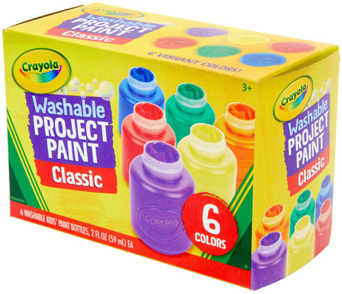Crayola Washable Kids Paint 2oz 6/Pkg-Classic -54-1204