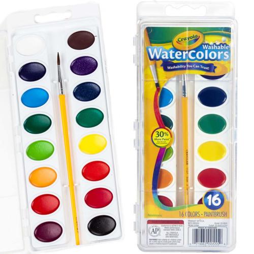 Crayola Washable Watercolors-16 colors -53-0555