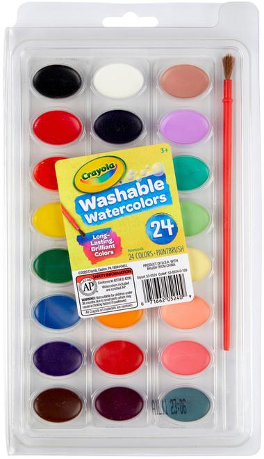 Crayola Washable Watercolors-24 colors -53-0524 - 071662052409