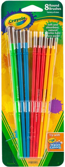Crayola Paintbrushes-8/Pkg -05-3516 - 071662635169