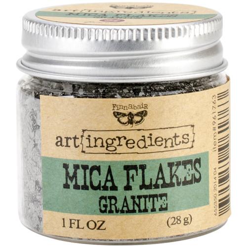 Finnabair Art Ingredients Mica Flakes 1oz-Granite -AIMF-96176 - 655350961763
