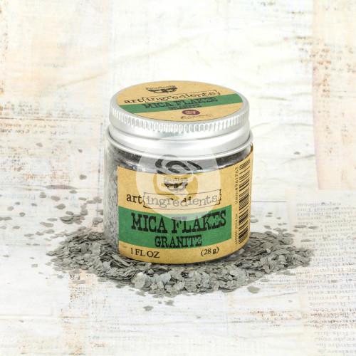 Finnabair Art Ingredients Mica Flakes 1oz-Granite -AIMF-96176
