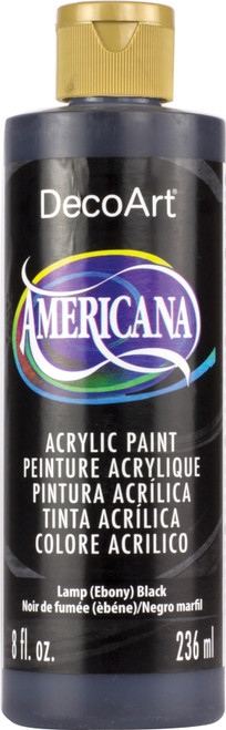 Americana Acrylic Paint 8oz-Lamp (Ebony) Black -DA8-DA67 - 016455167601