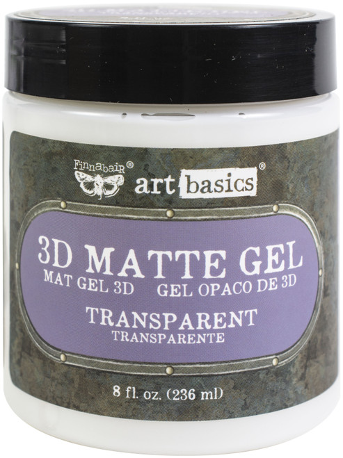Finnabair Art Basics 3D Matte Gel 8.5oz-Transparent -961398 - 655350961398