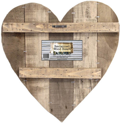 """Salvaged Pallet Sign Blank 14""""X14""""-Heart Reclaimed -AWHEART - 750810251009"""
