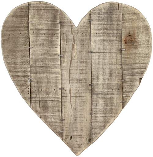 """Salvaged Pallet Sign Blank 14""""X14""""-Heart Reclaimed -AWHEART"""