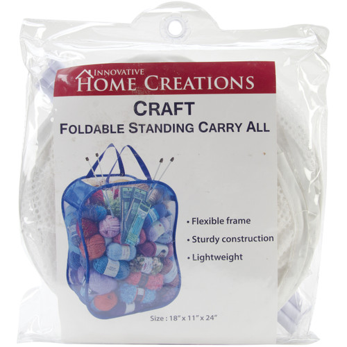 """Innovative Home Creations Foldable Standing Carry All -White 18""""X11""""X24"""" -2600-W - 039676126004"""