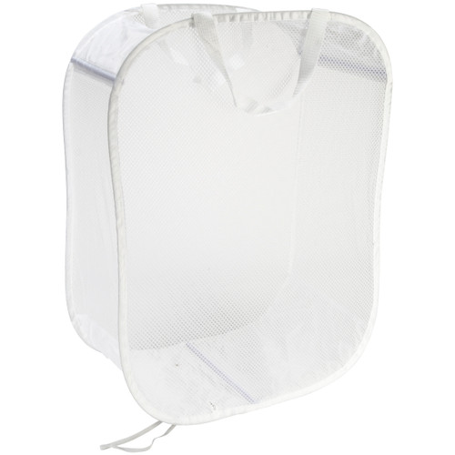 """Innovative Home Creations Foldable Standing Carry All -White 18""""X11""""X24"""" -2600-W"""