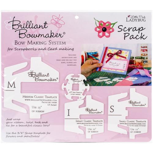 Little Pink Ladybug Brilliant Bowmaker Scrap Pack -LPL0106