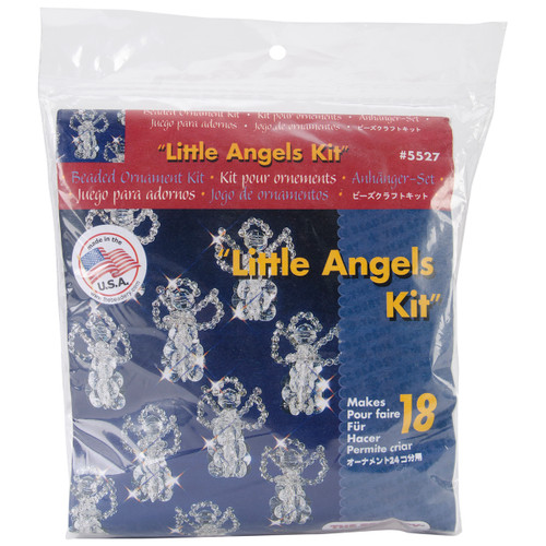 """Holiday Beaded Ornament Kit-Little Angels 2.5"""" Makes 18 -BOK-5527 - 045155888905"""