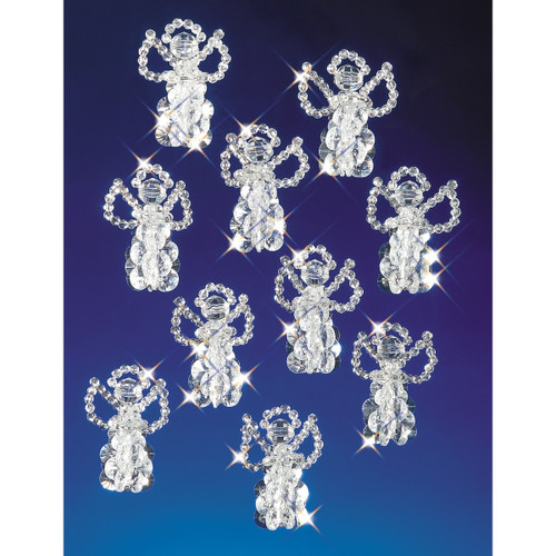 """Holiday Beaded Ornament Kit-Little Angels 2.5"""" Makes 18 -BOK-5527"""