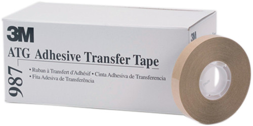 "Scotch ATG Adhesive Transfer Tape .5""X60yd 12/Pkg-Clear, 1.7 Mil -987 - 021200230516"