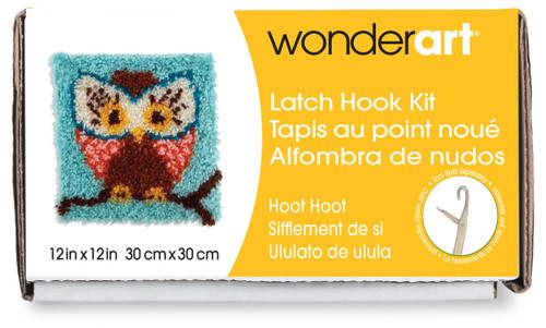 "Wonderart Latch Hook Kit 12""X12""-Hoot Hoot -426112 - 057355367876"