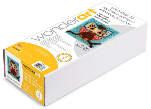 "Wonderart Latch Hook Kit 12""X12""-Hoot Hoot -426112"