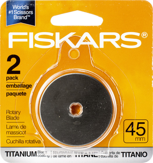 Fiskars Titanium Rotary Blades 45mm 2/Pkg-01005829 - 020335039537