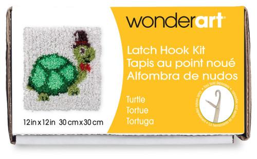 "Wonderart Latch Hook Kit 12""X12""-Turtle -426113 - 057355367883"