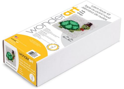 "Wonderart Latch Hook Kit 12""X12""-Turtle -426113"
