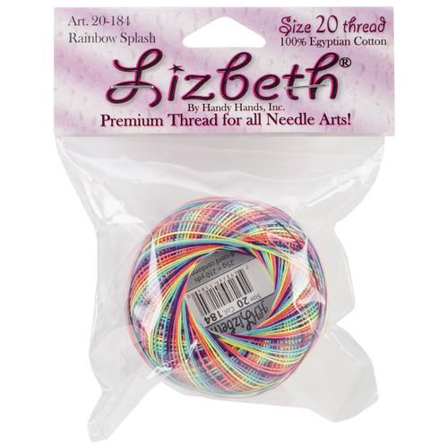 Handy Hands Lizbeth Cordonnet Cotton Size 20-Rainbow Splash -HH20-184 - 769826411840