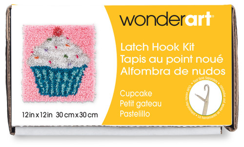 "Wonderart Latch Hook Kit 12""X12""-Cupcake -426109 - 057355367845"