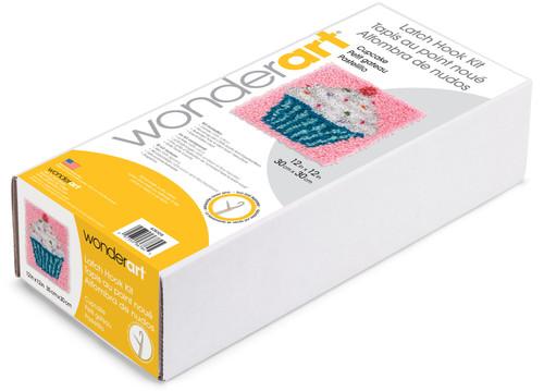 "Wonderart Latch Hook Kit 12""X12""-Cupcake -426109"