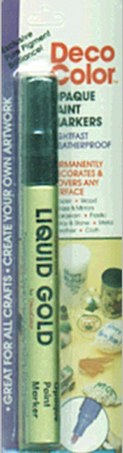 DecoColor Broad Glossy Oil-Based Paint Marker-Gold -300C-GLD - 028617039923
