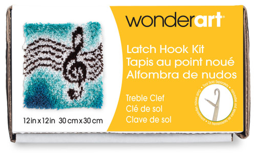 "Wonderart Latch Hook Kit 12""X12""-Treble Clef -426114 - 057355367890"