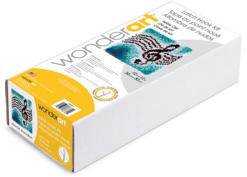 "Wonderart Latch Hook Kit 12""X12""-Treble Clef -426114"
