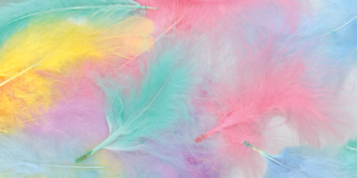 Marabou Feathers .25oz-Spring -B704-AP