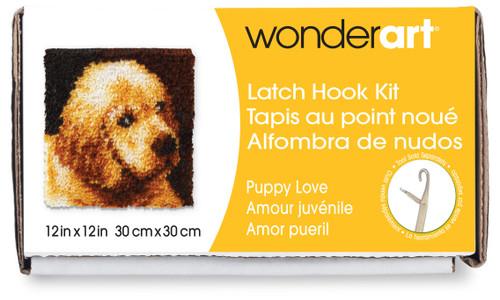 "Wonderart Latch Hook Kit 12""X12""-Puppy Love -426132C - 057355369191"