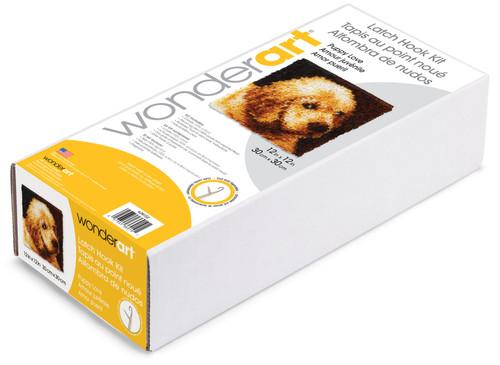 "Wonderart Latch Hook Kit 12""X12""-Puppy Love -426132C"