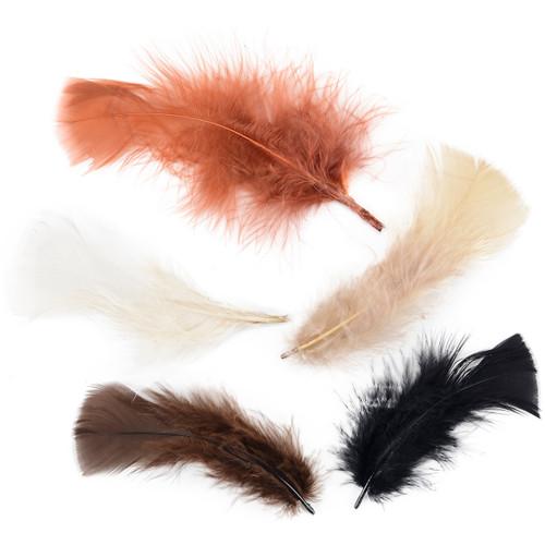 Turkey Plumage Feathers .5oz-Earthtones -B710-AE - 096709040317