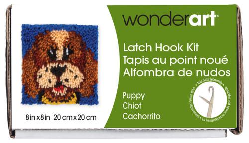 "Wonderart Latch Hook Kit 8""X8""-Puppy -426136C - 057355369238"