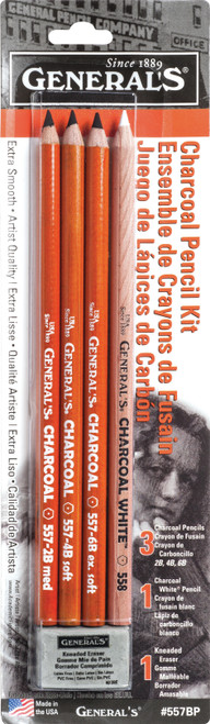 Charcoal Pencil Kit 5/Pkg-557BP - 044974557009